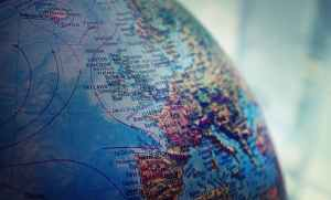 shallow focus photo of world globe
